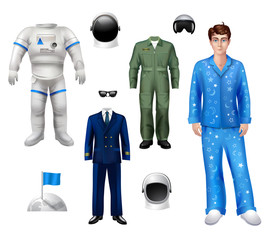 Astronaut Boy Set