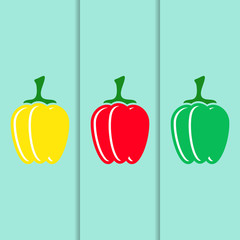 Sweet pepper icons