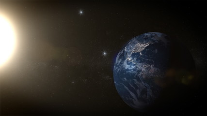 Sun is traveling around the earth,  while some stars are being borned