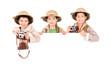 Boys in Safari clothes