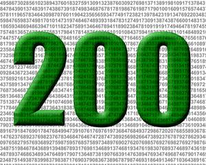 yeşil renkli 200 sayısı