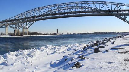 Blue Water Bridge Winter