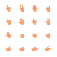 Hands Icons : Flat Icon Set