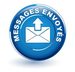 messages envoyés sur bouton bleu