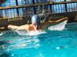 Zdjęcia na płótnie, fototapety, obrazy : Male swimmer  at the swimming pool.Butterlfy style.