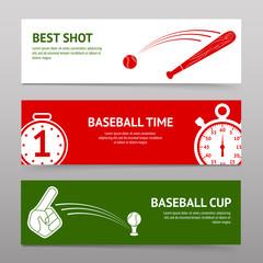 Baseball Banners Set