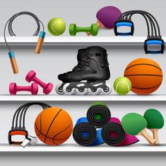 Sport Store Shelf