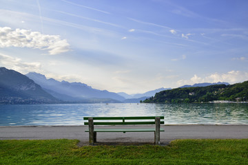 Bench in Annecy