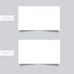 Blank business card with shadow