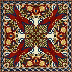 silk neck scarf or kerchief square pattern