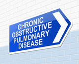 Chronic obstructive pulmonary disease concept. poster