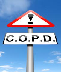 Chronic obstructive pulmonary disease concept.