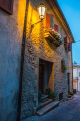 Evening streets of San Marino