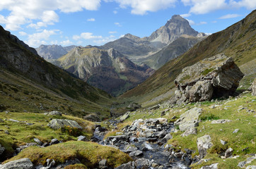 Mountain valley in the Atlantic Pyrenees