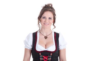 Junge Frau in Dirndl Model lächelt freundlich