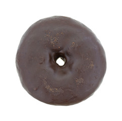 Small chocolate iced donut