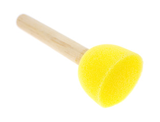 Yellow foam stencil brush