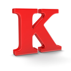 Letter K (clipping path included)