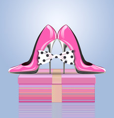 high heel shoes,symbol mothers day, woman's day, valentines day