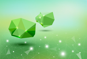 Green Abstract 3d  business design illustration