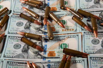 American dollars for weapons