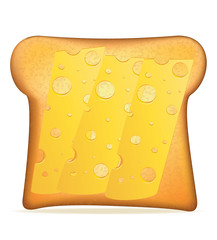 toast with cheese vector illustration