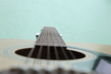 strings on the guitar
