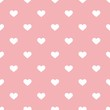 Tile vector valentines pattern white hearts pink background