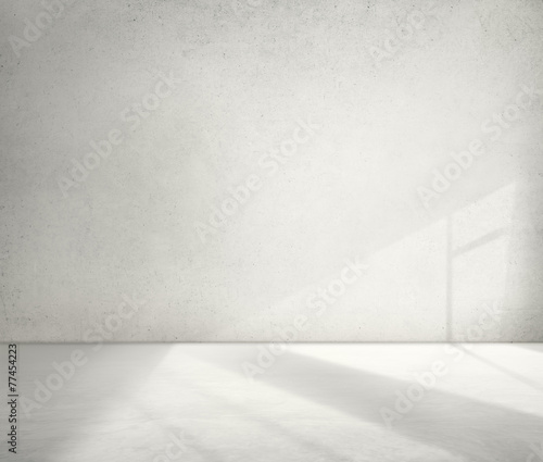 Leinwanddruck Bild Concrete Room Corner Shadow Cement Wallpaper Concept