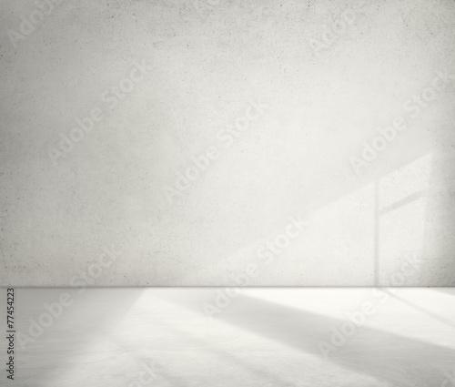 Concrete Room Corner Shadow Cement Wallpaper Concept - 77454223