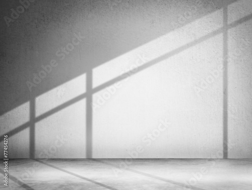 Concrete Room Corner Shadow Cement Wallpaper Concept - 77454276
