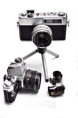 Antiguas cámaras fotográficas de 35mm