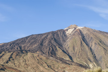 Snowcapped Volcano
