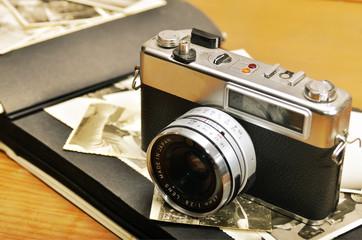 Antigua cámara de 35 mm