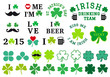 St Patrick's day, clover set, vector - 77455092