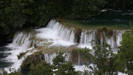 Shot of cascade on Krka river-Croatia