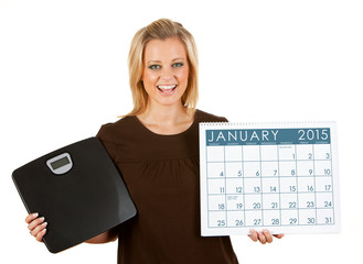 2015 Calendar: Woman Excited To Diet In January
