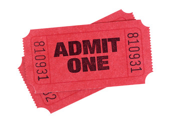 Red admission tickets