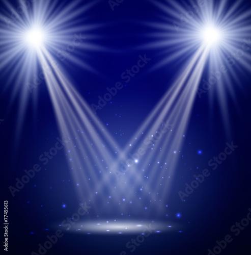 Fotobehang Licht, schaduw Stage. Vector illustration.