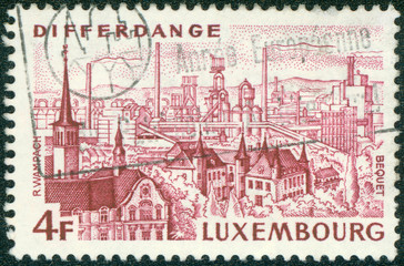 stamp printed in the Luxembourg shows View of Differdange