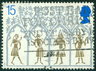 14th Century Peasants from Stained-glass Window