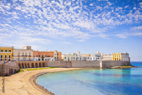 View of Gallipoli, Apulia, Southern Italy - 77457298