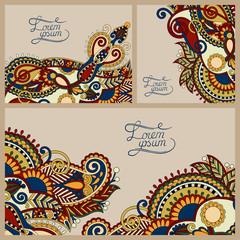 set of floral decorative background, template frame design