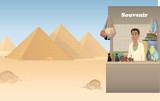 Egypt shop with souvenirs