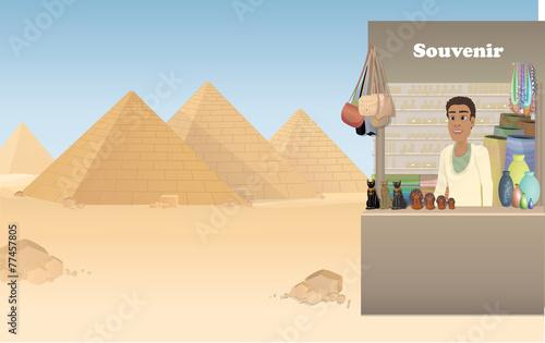 Egypt shop with souvenirs - 77457805