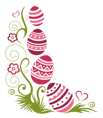 Bunte Ostereier, Ostern, Frühling