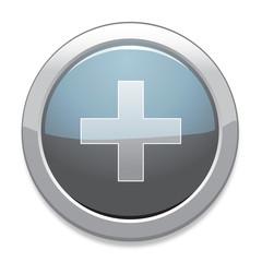 Plus Sign Icon / Light Gray Button