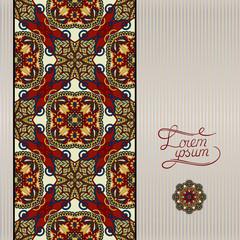 geometric background, vintage ornamental design in beige colour