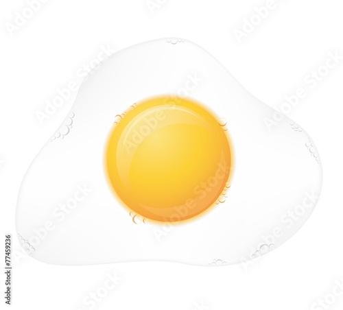 fried egg vector illustration - 77459236
