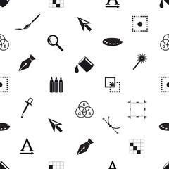 computer graphics black and white seamless pattern eps10